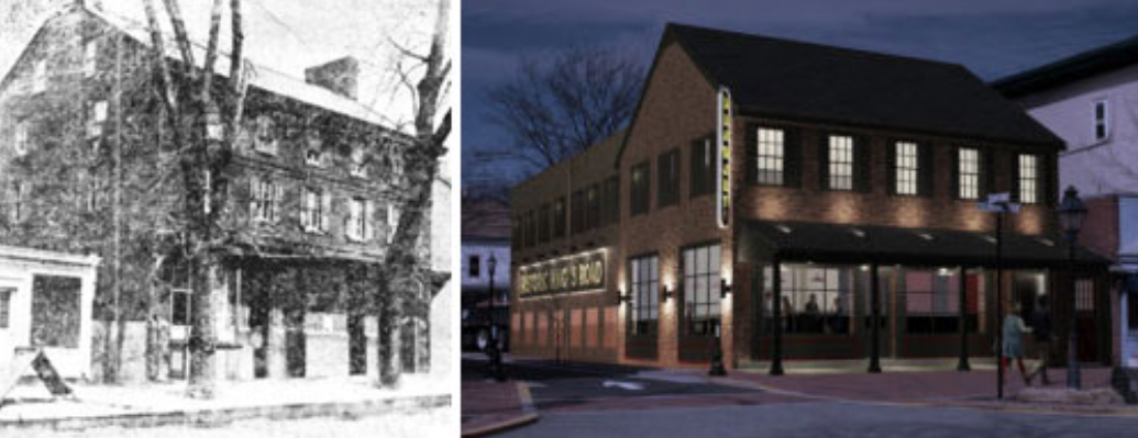 building 300 years ago and now